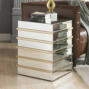 Leitha Square Shape Mirror End Table