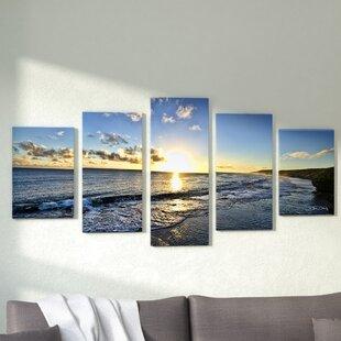 U0027Day Breaku0027 5 Piece Photographic Print On Wrapped Canvas Set