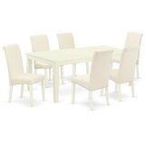 Avanley 7 Piece Extendable Solid Wood Dining Set by Winston Porter