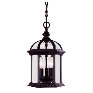 Top Hartshorne 3-Light Outdoor Hanging Lantern By Three Posts