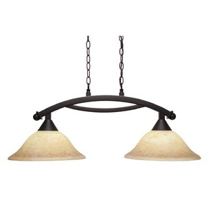 Fleur De Lis Living Blankenship 2-Light 100W Metal Kitchen Island Pendant