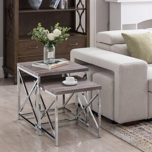 Aliza 2 Piece Nesting Table Set Orren Ellis