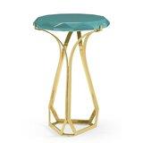 Round Jewel Daphne Diamond Cut End Table by Jonathan Charles Fine Furniture