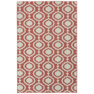 Stein Sophisicate Tufted 4 x 6 Coral/Ivory Indoor/Outdoor Area Rug