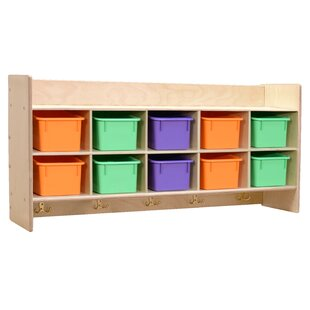 Affordable Price 10 Compartment Cubby with Trays ByWood Designs
