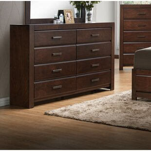 Gracie Oaks Longstreet 6 Drawer Double Dresser with Mirror