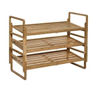 Nesting Bamboo 12 Pair Shoe Rack by Honey Can Do