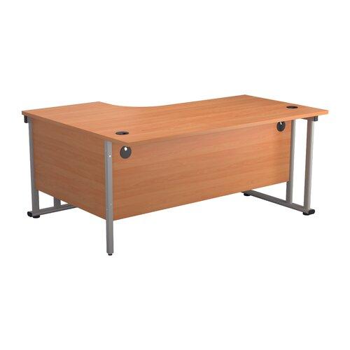 Eckschreibtisch Cantilever Brayden Studio Größe: 73 cm H x 160 cm B x 120 cm T| Farbe: Buche/Silber| Ausrichtung: Rechts | Büro | Brayden Studio