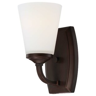 Mildred 1-Light Glass Bath Sconce by Andover Mills