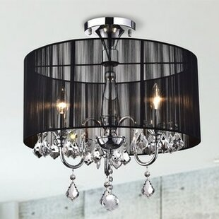 Mcleroy 3-Light Semi Flush Mount by House of Hampton