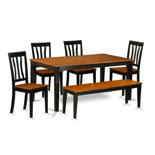 6 Piece Dining Set East West Furniture