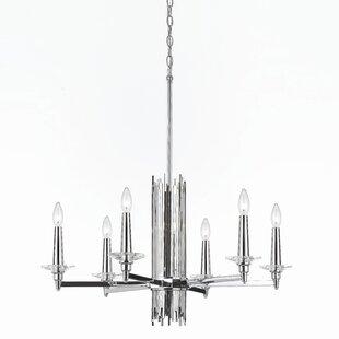 Crystal bobeche wayfair trevor 6 light chandelier aloadofball Choice Image