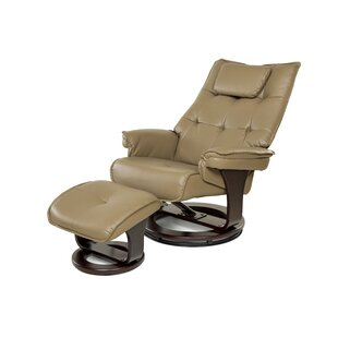 Aarti Manual Swivel Recliner with Ottoman