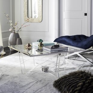 Orren Ellis Gould Coffee Table with Tray Top
