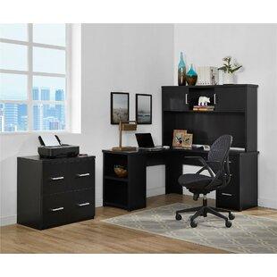 Ebern Designs Canvey 3 Piece L-Shape Desk Office Suite