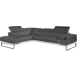 Callensburg Leather Reclining Sectional by Wade Logan