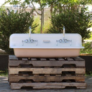 Inexpensive Mcgrane High Back Incarnadine 48 Wall Mount Bathroom Sink with Faucet ByGracie Oaks