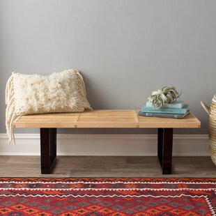 Brenford Wood Bench by Brayden Studio