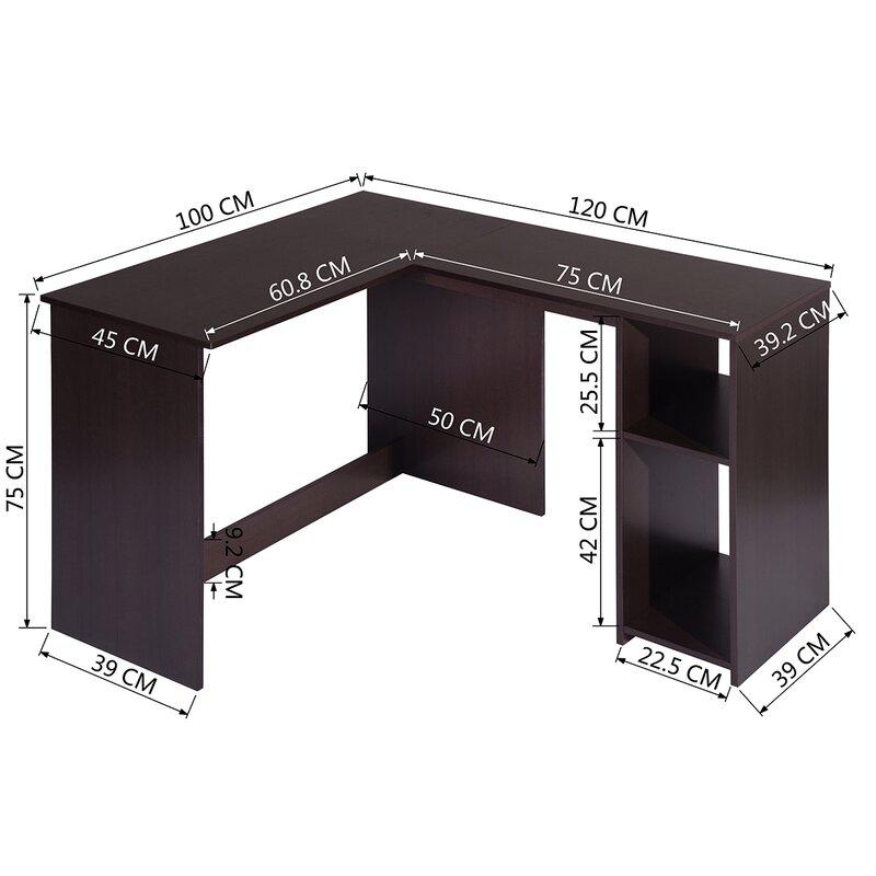 Ebern Designs Mustin L-Shape Desk & Reviews   Wayfair