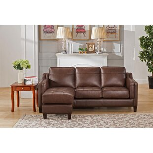 Red Barrel Studio Katherine Leather Reversible Sectional