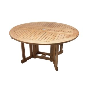 Lambdin Teak Dining Table by Millwood Pines Best
