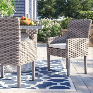 Rockport Patio Dining Chair with Cushion (Set of 2) by Sol 72 Outdoor
