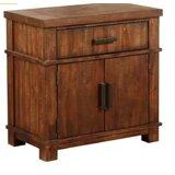 Hoggan 1 Drawer Nightstand by Millwood Pines