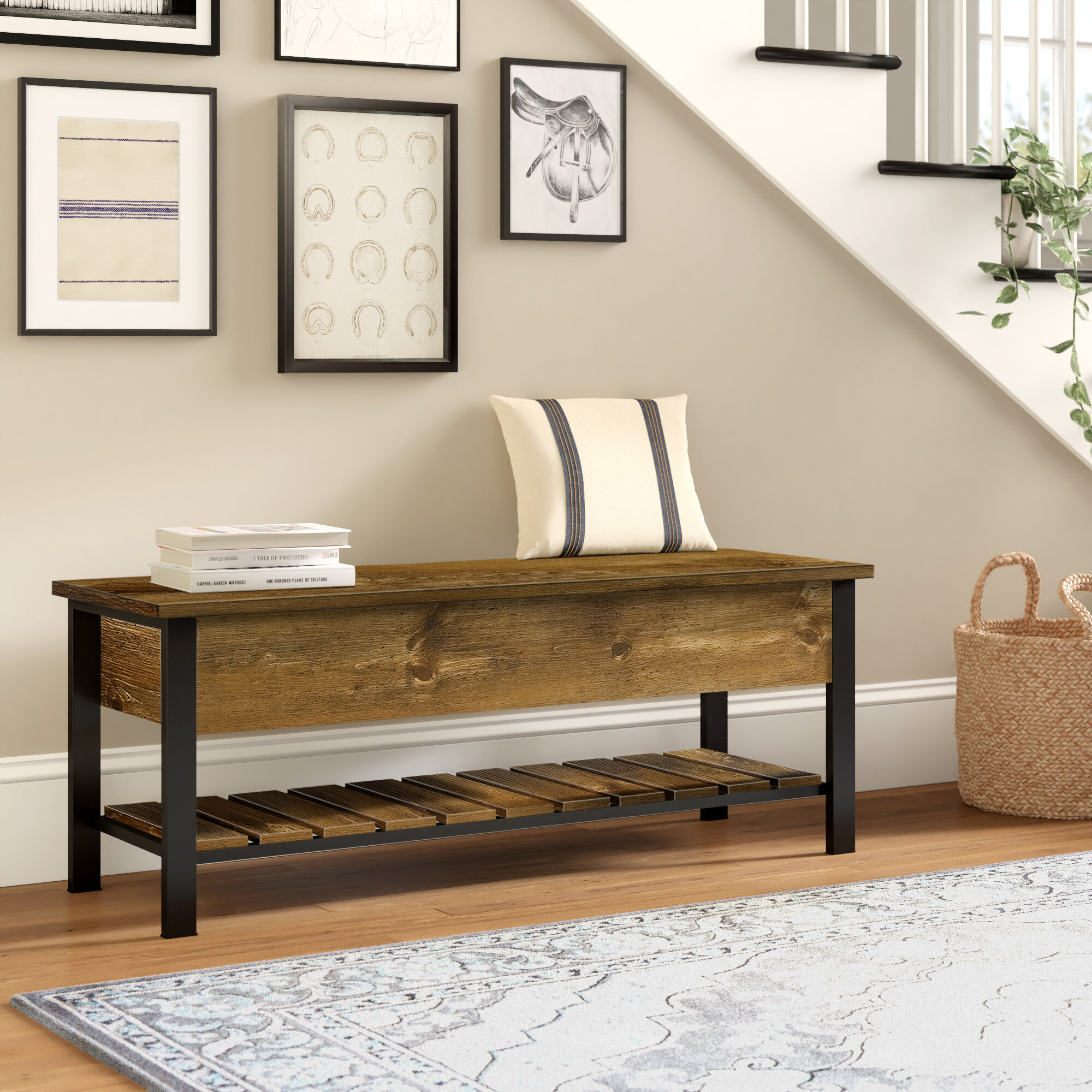 Three Posts Ochlocknee Flip Top Storage Bench Reviews
