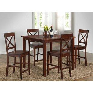 5 Piece Pub Table Set Roundhill Furniture