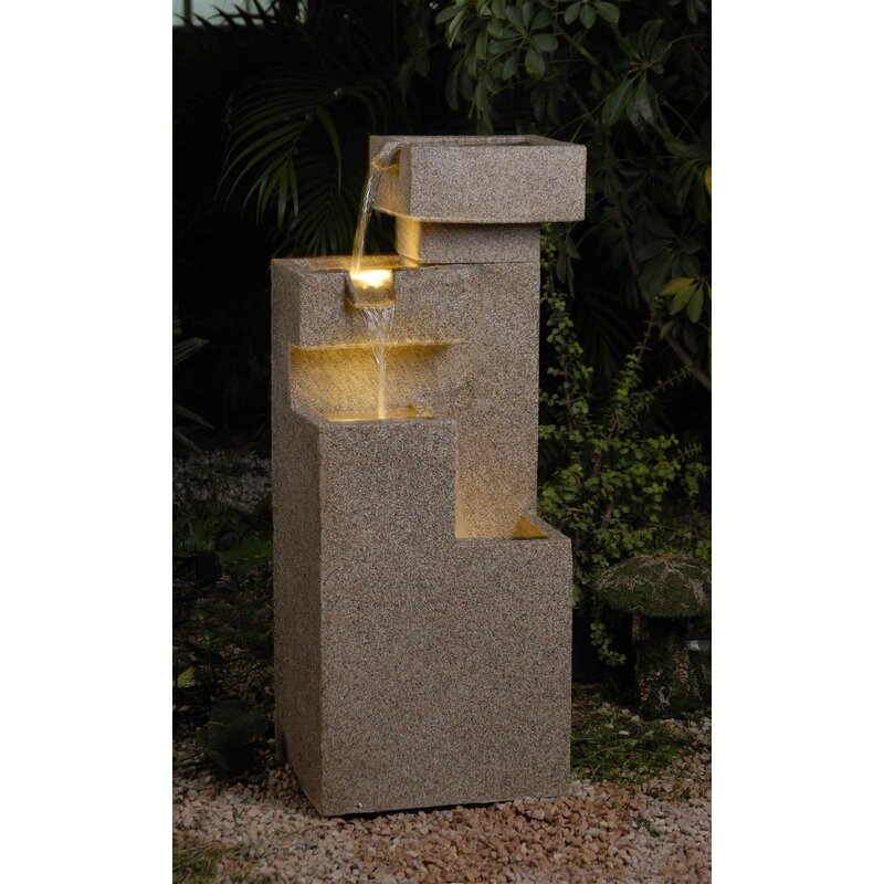 Jeco Inc. Tiered Fountain with Light