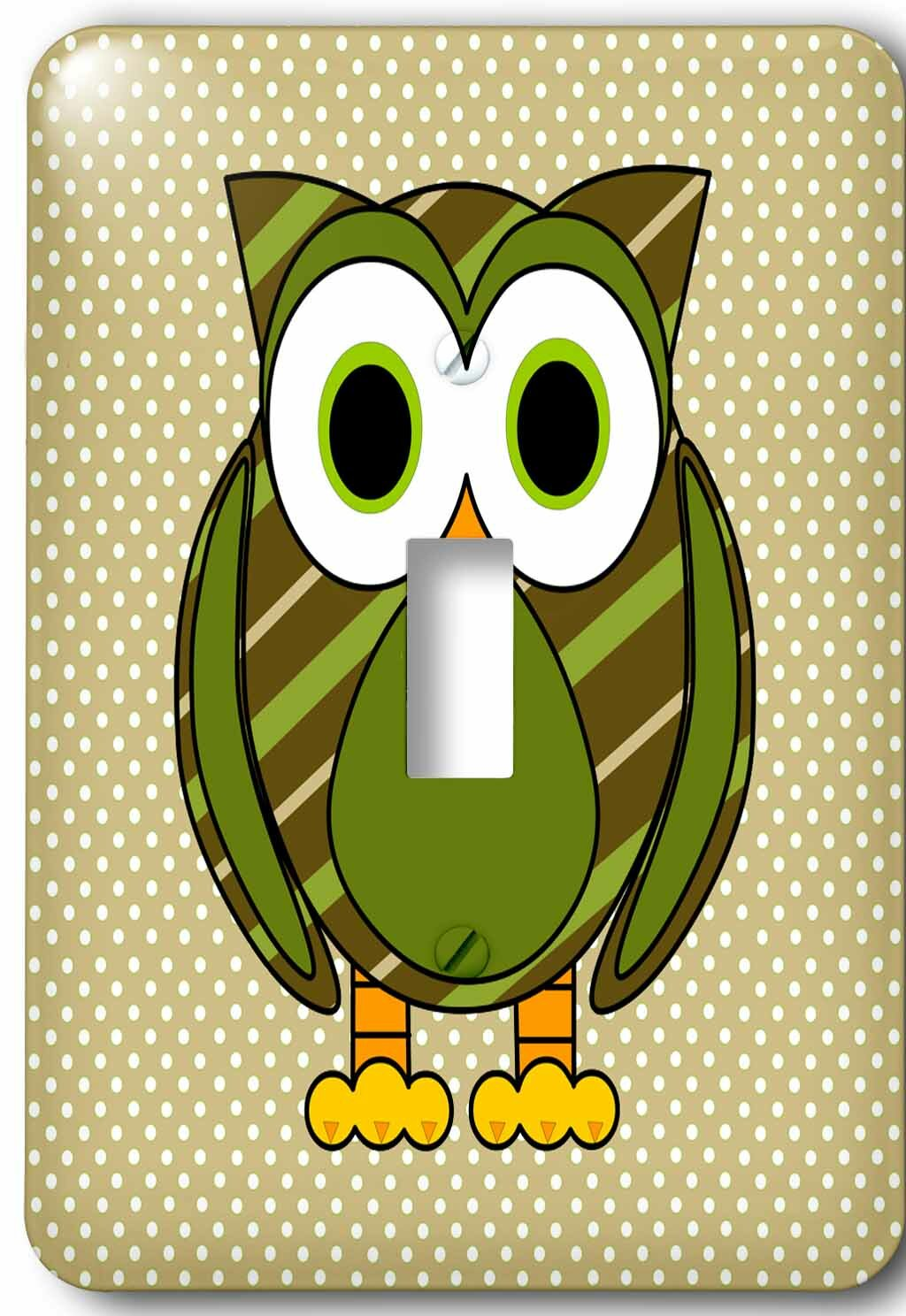 3drose Cute Owl And Dots 1 Gang Toggle Light Switch Wall Plate Wayfair
