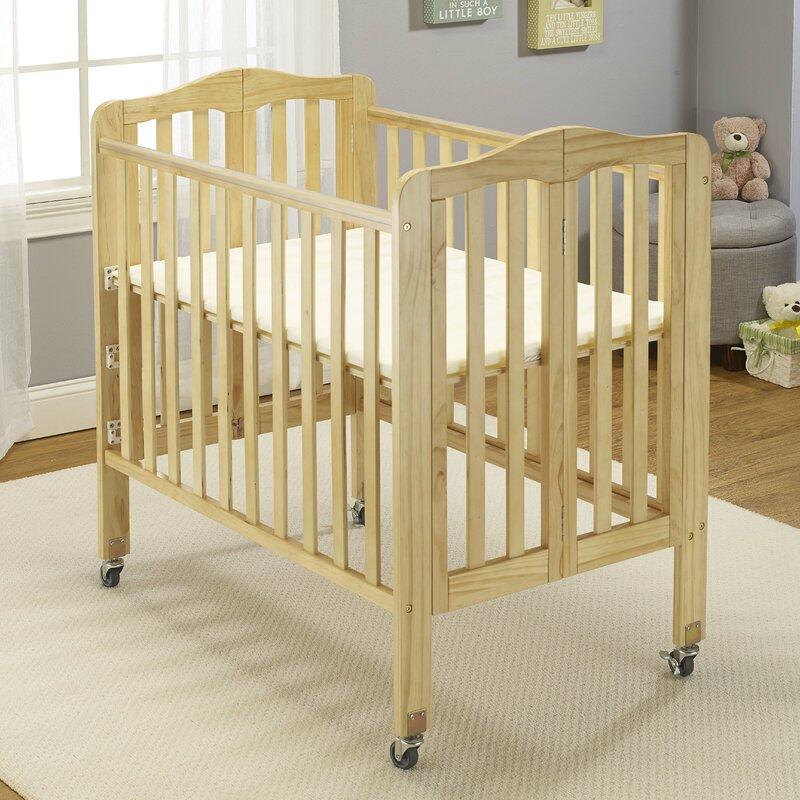 Baby Time InternationalBig Oshi Angela Folding Portable Crib With Mattress