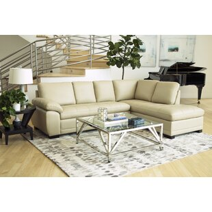 Denice Leather Right Hand Facing Sectional by Red Barrel Studio