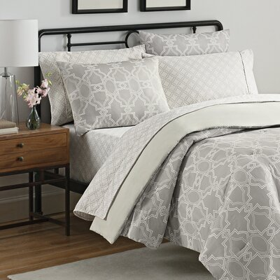 Simmons Fremont 7 Piece Reversible Comforter Set Size: King