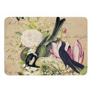 Vintage Tea by Suzanne Carter Memory Foam Bath Mat
