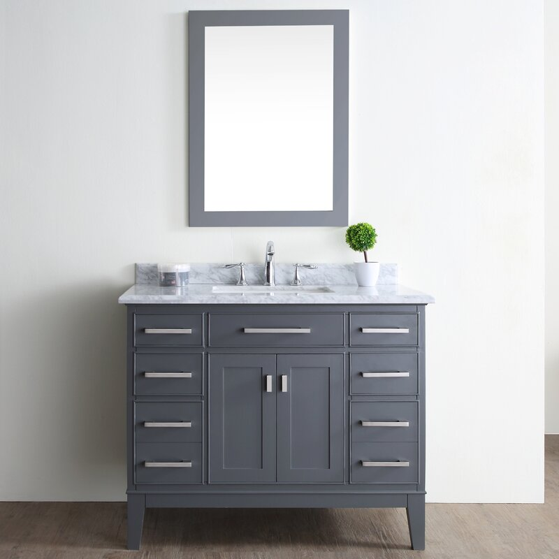 "Bathroom Vanities Virginia Beach ari kitchen & bath danny 42"" single bathroom vanity set & reviews"