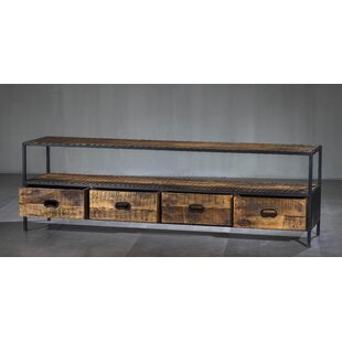 Warba Solid Wood TV Stand For TVs Up To 88