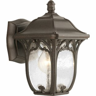 Alcott Hill Triplehorn 1-Light Wall Espresso Lantern