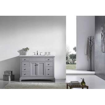 Wrought Studio Leena 29 Single Bathroom Vanity Set With Mirror Wayfair