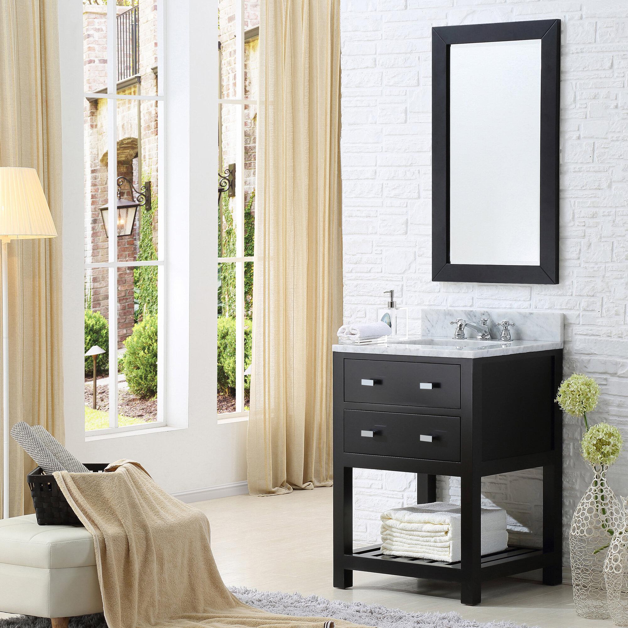 Perego 24 Single Bathroom Vanity Set With Mirror Allmodern