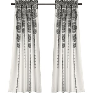 Nemeara Ikat Sheer Rod Pocket Curtain Panels (Set of 2)
