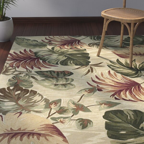 Bay Isle Home Murray Beige Palm Leaves Area Rug Reviews Wayfair