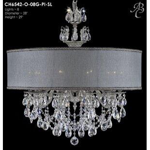 American Brass & Crystal Llydia 8-Light Chandelier