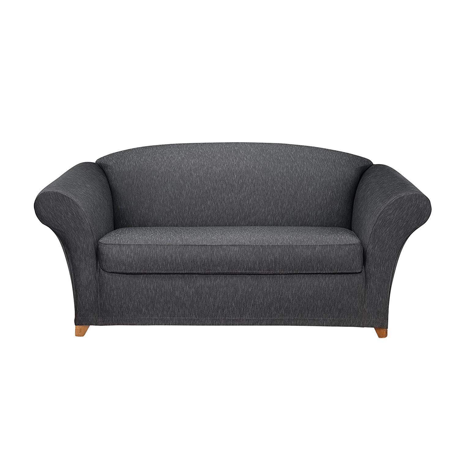 Picture of: Sure Fit Contrast Denim Furniture Box Cushion Loveseat Slipcover Wayfair