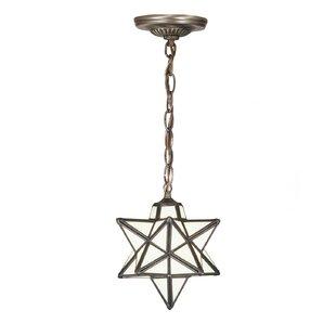 Meyda Tiffany Moravian Star 1-Light Geometric Pendant