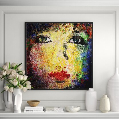'Abstract Woman IV' - Painting Print on Canvas