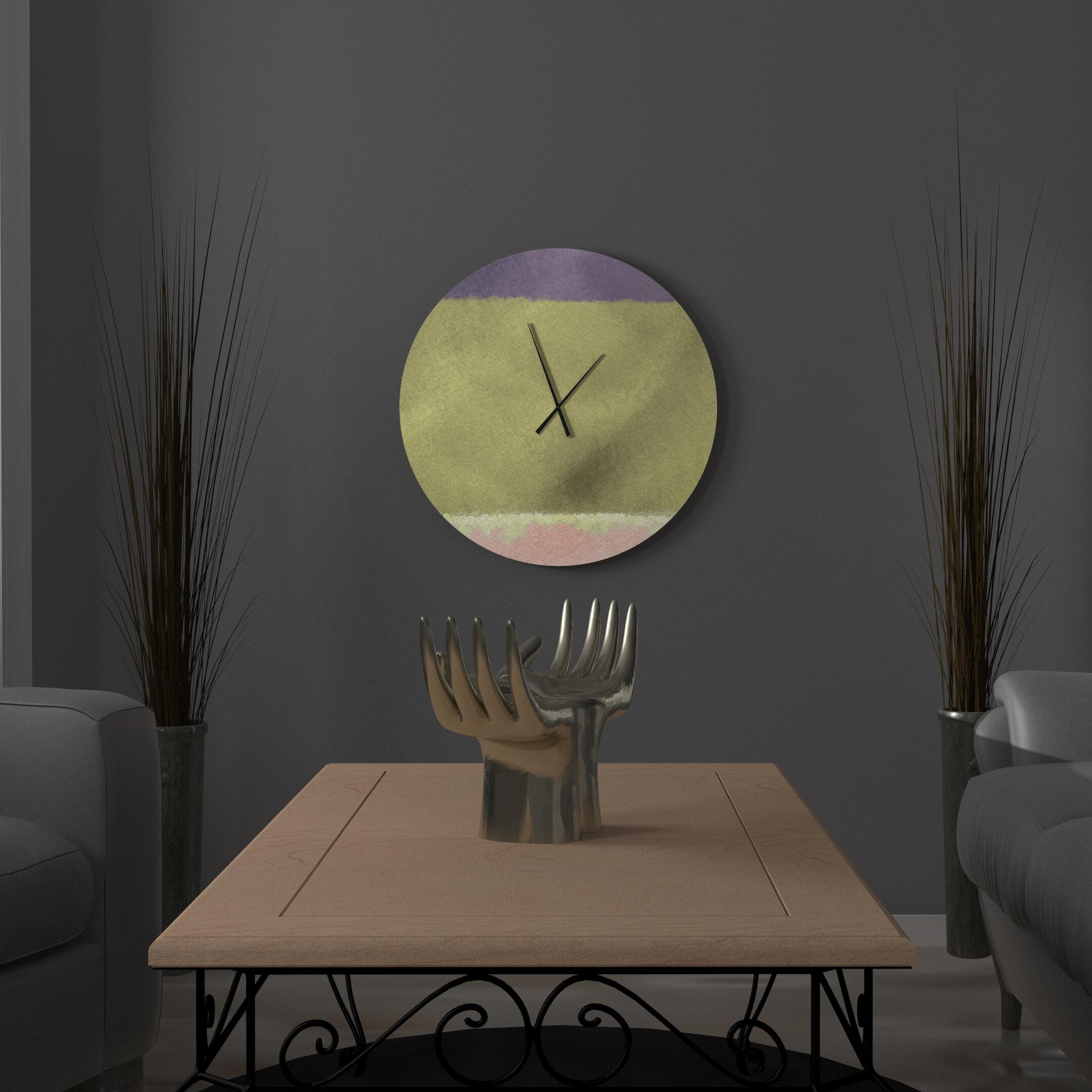 East Urban Home Isabelle Wall Clock Wayfair