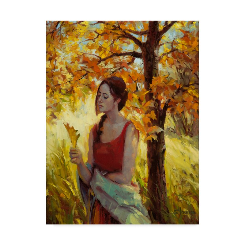 Trademark Art Contemplation Acrylic Painting Print On Wrapped Canvas Wayfair
