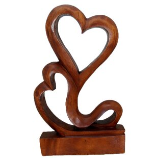 Wooden Heart Sculpture Wayfair