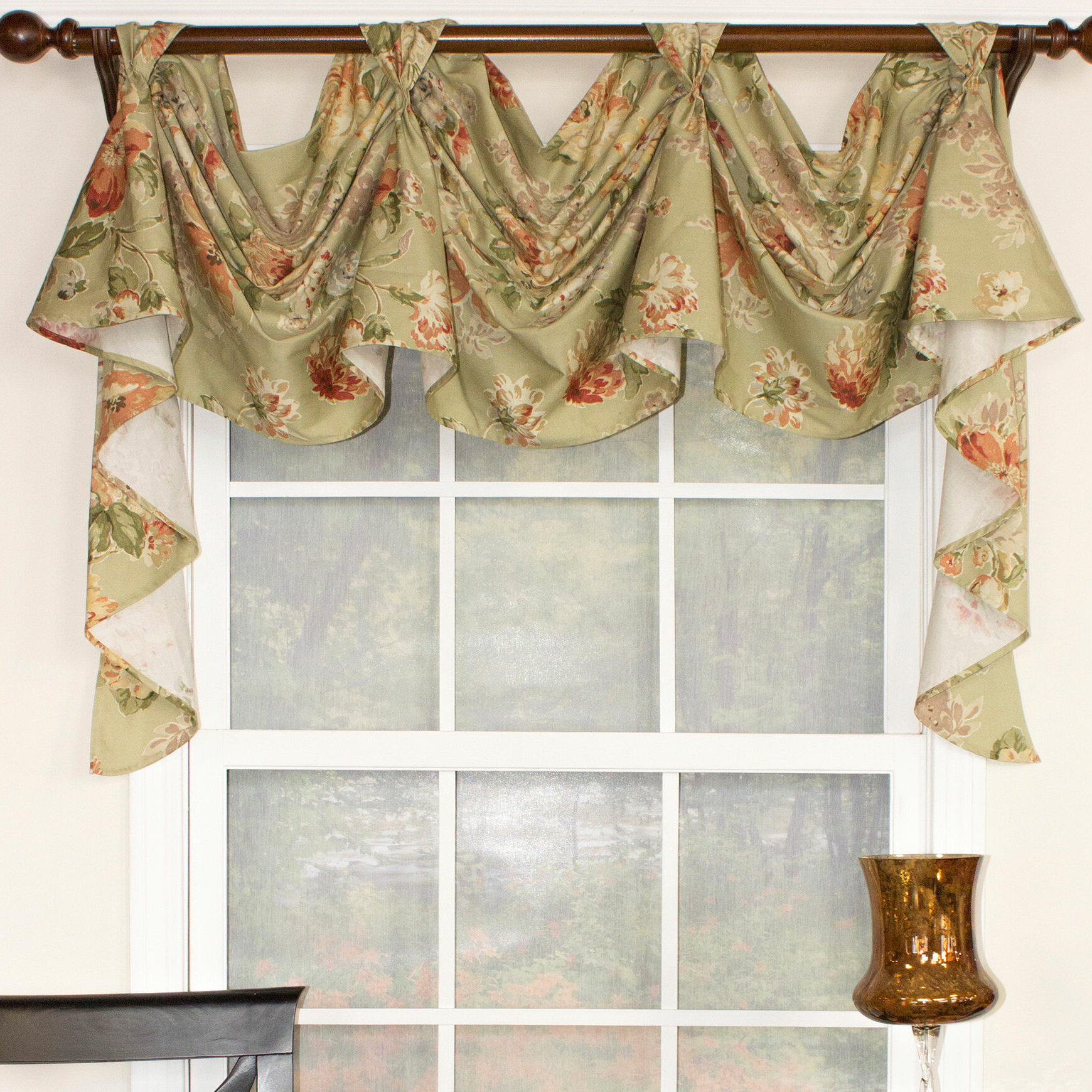 elegant swag love valance valances room curtains for windows youll white cute swags sheer coral dining